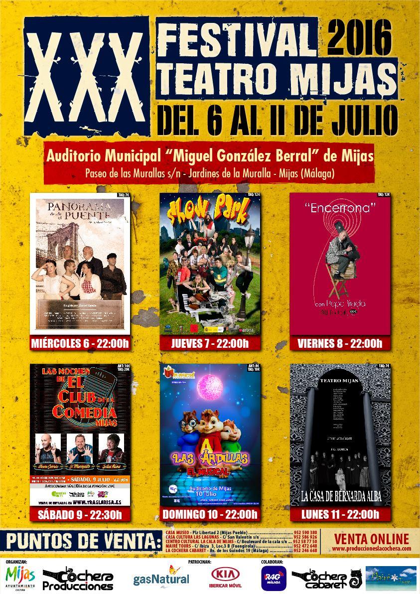 Cartel XXX Festival de Teatro de Mijas