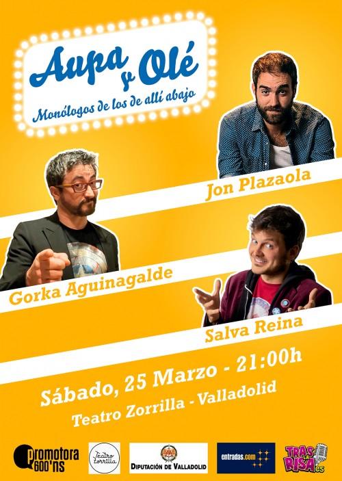 Cartel AUPA Y OLÉ en el Ciclo de Comedia Valladolid