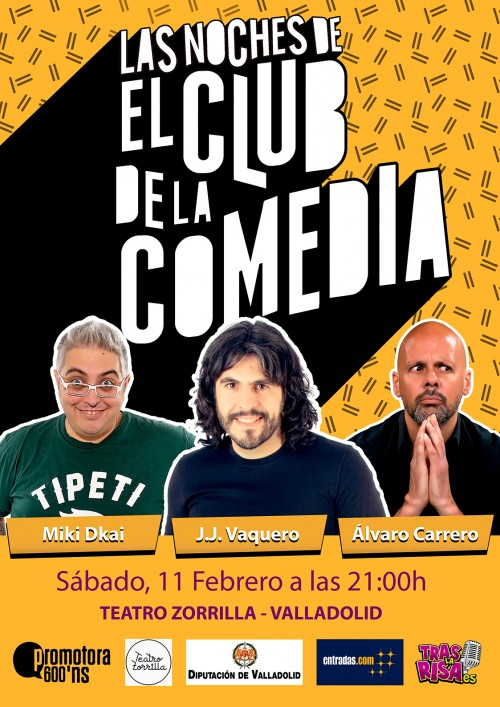 Cartel LAS NOCHES DE EL CLUB DE LA COMEDIA (Febrero) en el Ciclo de Comedia Valladolid