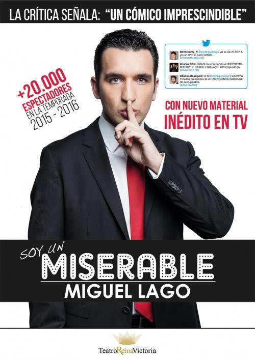 Cartel SOY UN MISERABLE