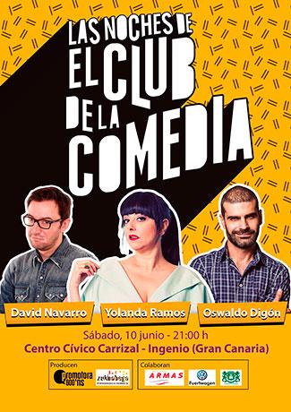 Cartel LAS NOCHES DE EL CLUB DE LA COMEDIA en Gran Canaria