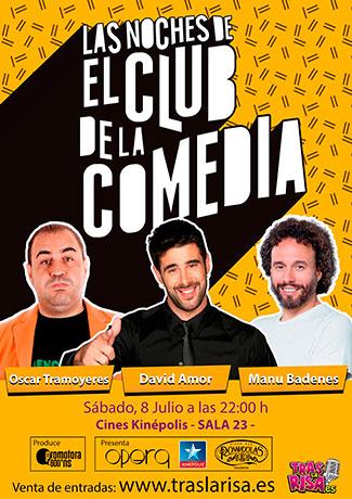 Cartel LAS NOCHES DE EL CLUB DE LA COMEDIA en Valencia