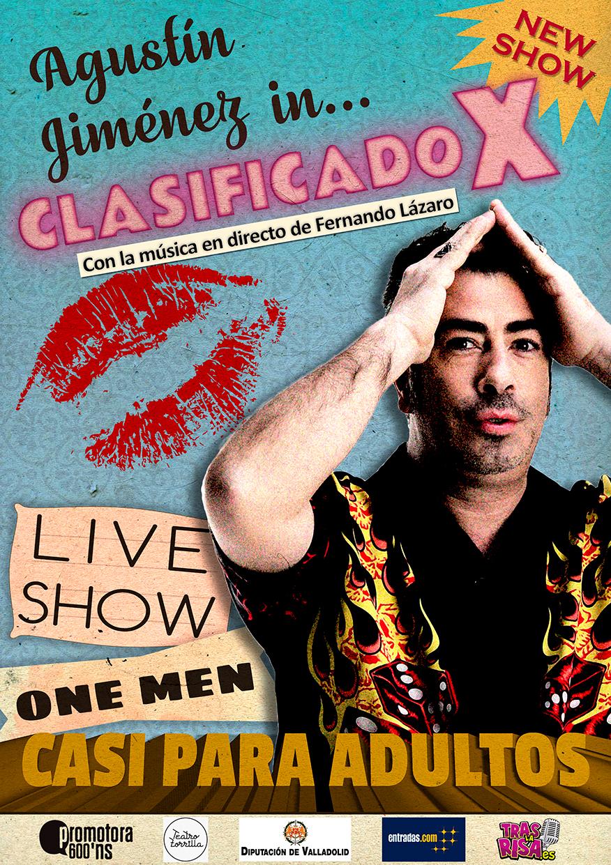 Cartel CLASIFICADO X en Valladolid