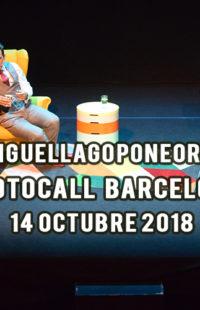 Photocall Miguel Lago Pone Orden Barcelona 14.10.18