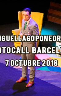 Photocall Miguel Lago Pone Orden Barcelona 07.10.18