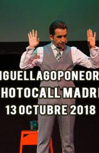 Photocall Miguel Lago Pone Orden Madrid 13.10.18