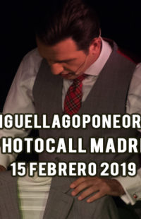 Photocall Miguel Lago Pone Orden Madrid 15.02.19